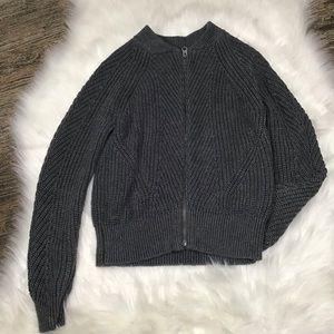Gap girls grey sweater jacket.